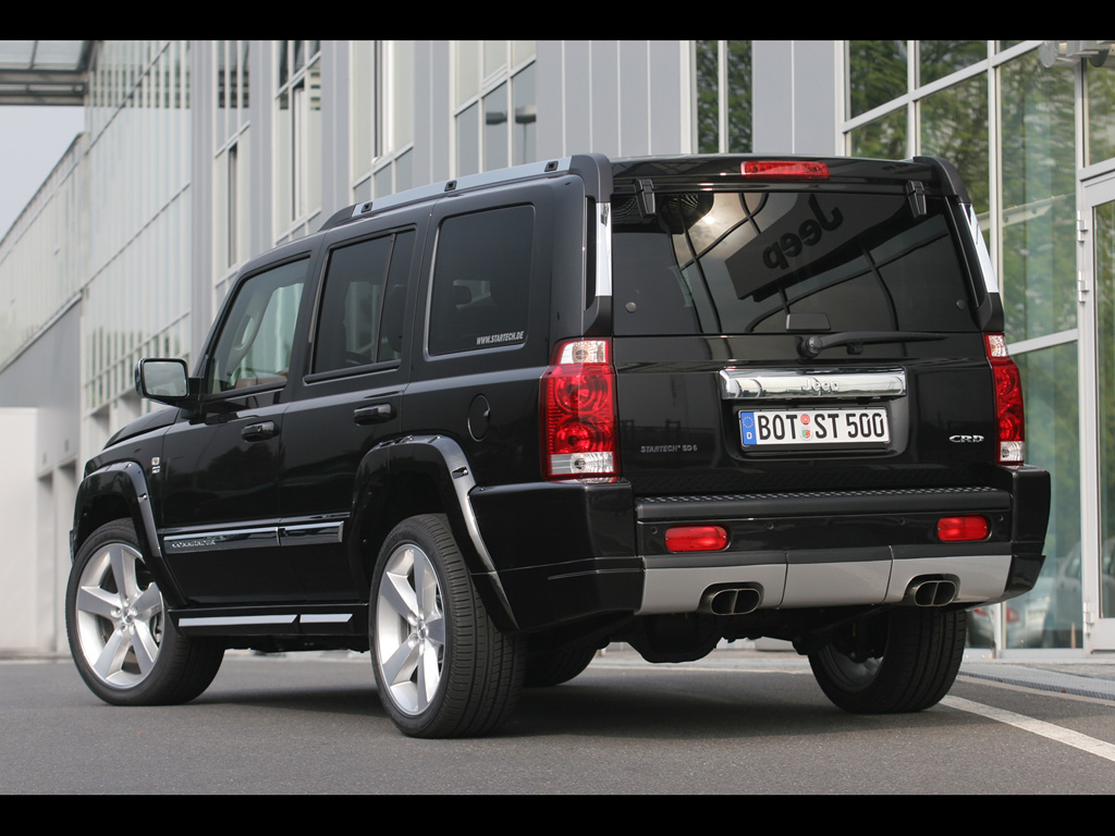 jeep commander in rear view | jeep enthusiast