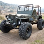 A Big Foot Willys Jeep