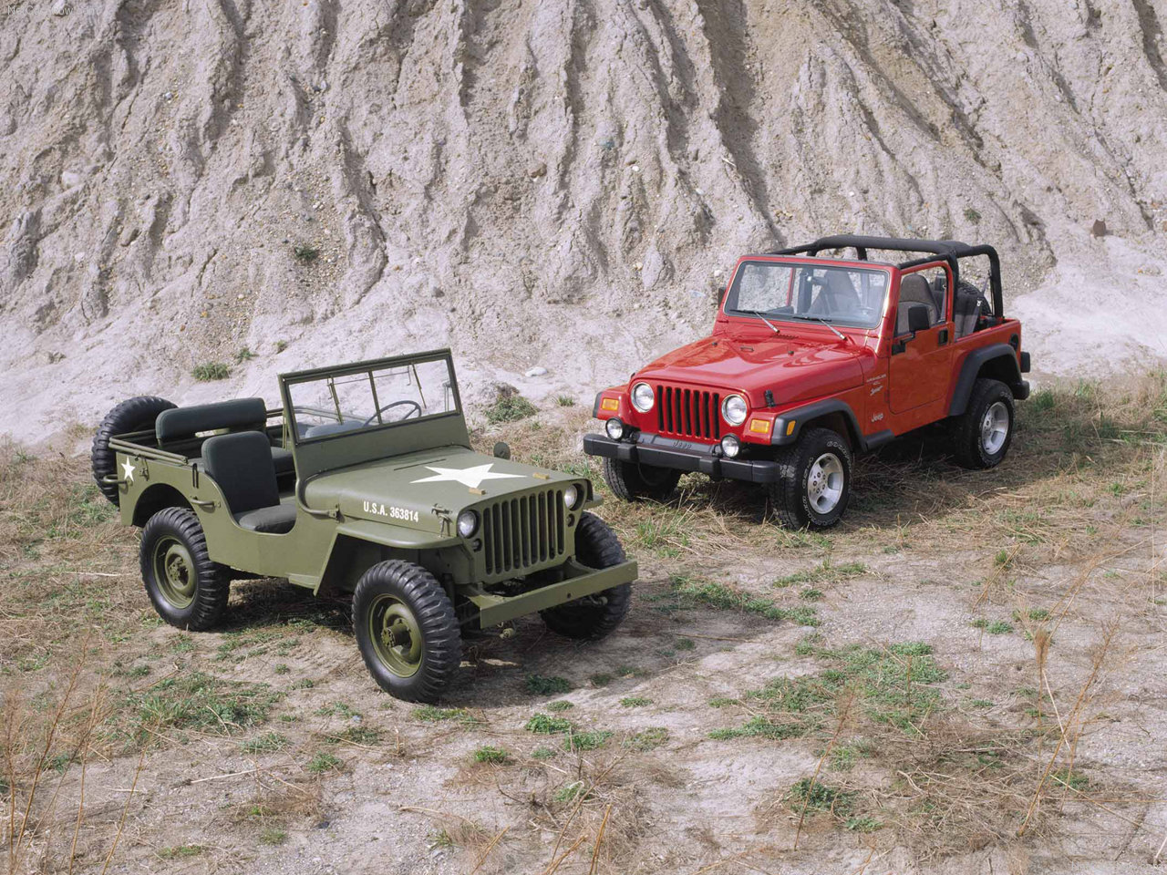 comparing jeep willys and wrangler jeep enthusiast. Black Bedroom Furniture Sets. Home Design Ideas