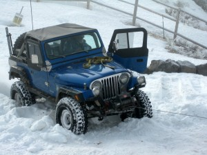 Jeep CJ7 On Ice