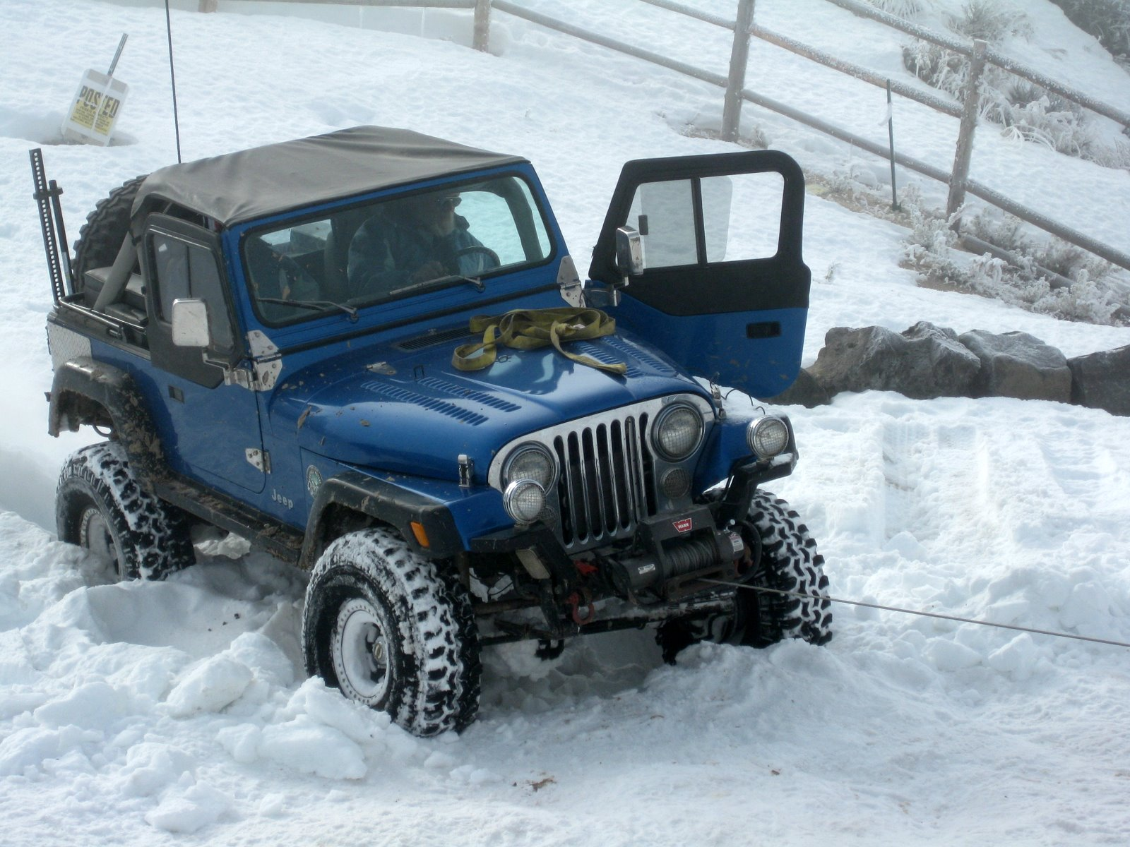 Jeep Cj7 On Ice Jeep Enthusiast