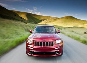 Jeep Grand Cherokee SRT8 2012 In Front View