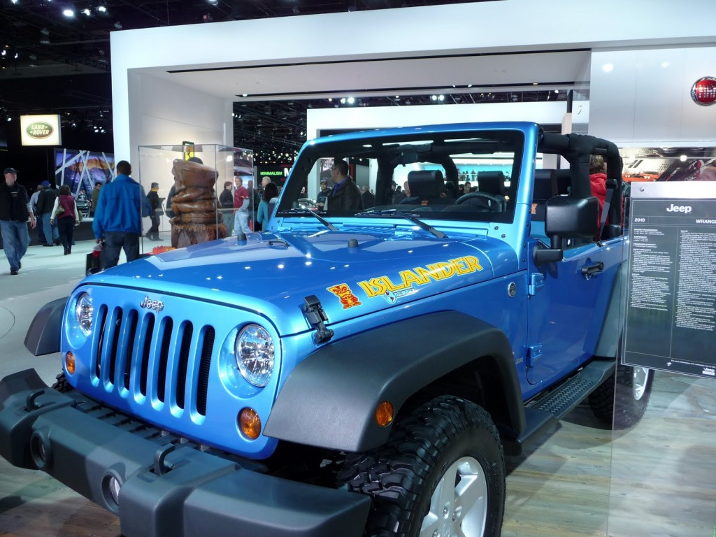 Detroit auto show jeep wrangler