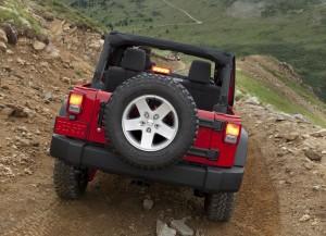 Jeep Wrangler 2011 In Rear View