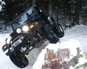 Jeep Wrangler Jumping On Ice
