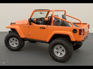 Orange Jeep Wrangler