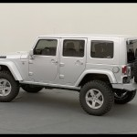 White Jeep Wrangler Unlimited Rubicon Side Angle
