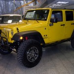 Yellow Jeep YJ