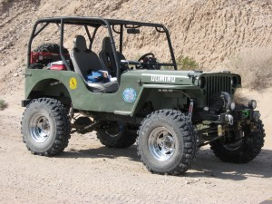 Jeep Willys At Desert