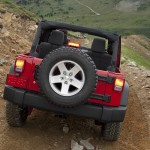 Jeep Wrangler 2011 In Rear View