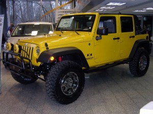 Yellow Jeep YJ
